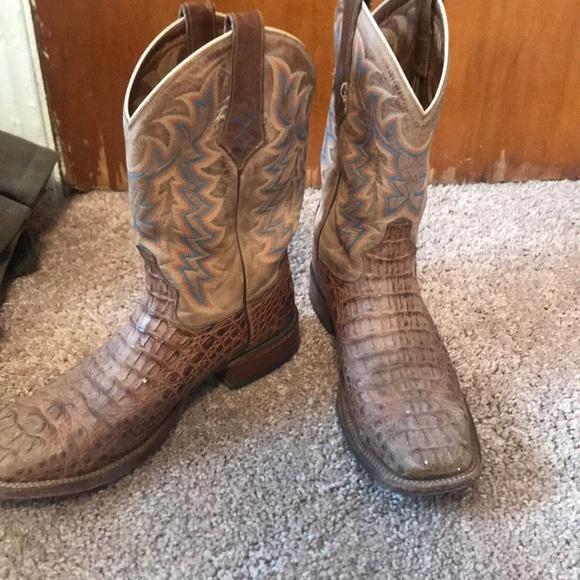 ccbab5c4e13 Tony Lama Alligator skin boots